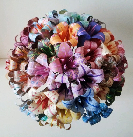 Origami Wedding Flowers: Paper Flowers Lily Origami Bouquet Wedding Paper Anniversary