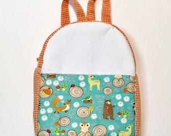 Backpack Vichy Orange Forest