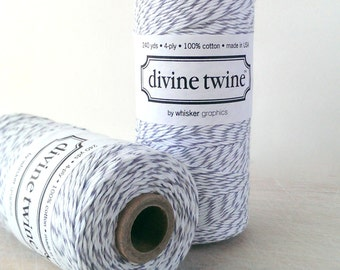 Gray twine - full spool - 240 yards - Divine Twine oyster twine light grey bakers twine