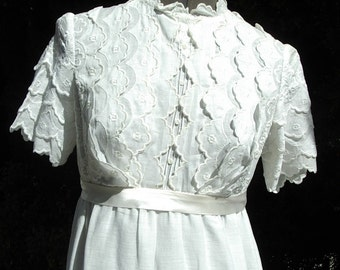 Edwardian Style Young Ladies Gown/Dress Graduation/ Party Designer Original Size: 6 Item # 185 Victorian/Edwardian