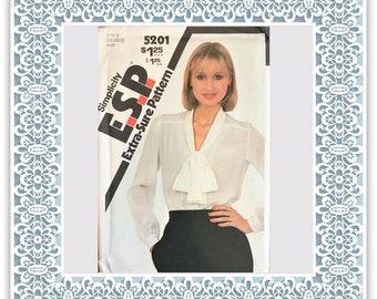 Simplicity 5201 (1981) Misses' blouse - Vintage Uncut Sewing Pattern