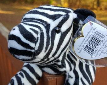 Vintage - Ty Beanie Babies - ZIGGY the Zebra, Retired, 1995