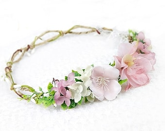 Flower Crown, Hair Accessories, Wedding Tiara, Bridal flowers, Wedding hair wreath, Rustic Headpiece, Hair Wreath, Boho, Bridal headpiece
