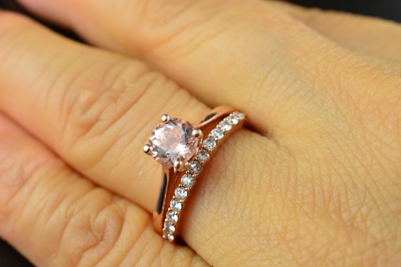 Emma Ruth Petite Ashley Set Morganite Engagement Ring In