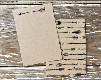 Personalized Note Card Set - Set of 8 - Arrow