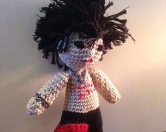 Sid vicious amigurumi crochet doll
