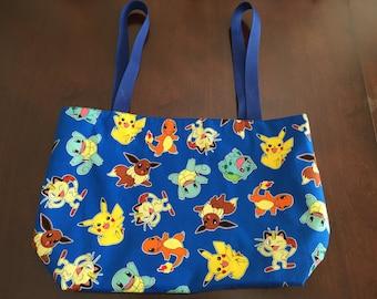 Blue Pokemon Tote Bag