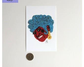 Celia Cruz Art Print, Wall Art Print, Celebrity Art Print, Celia Cruz Print, Celia Cruz Art, Beadwork Art Print, Latina Art Print