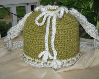 Crochet Bucket Bag  Green