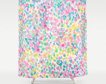 Exceptionnel Pastel Dots Shower Curtain, Watercolor Pattern, Watercolor Painting,  Whimsical, Bathroom Decor,