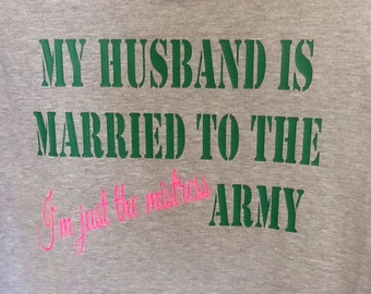 Military Army Wife fitted -t