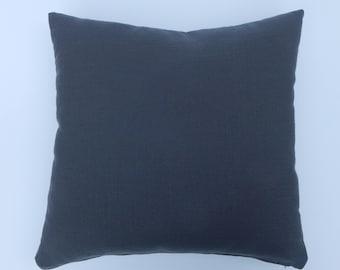 18 x18 square ,dark gray linen-like pillow cover
