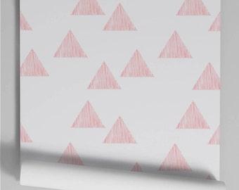 Salmon Triangle wallpaper