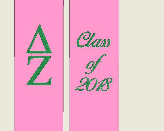 Group Discounted Graduation Stole - Custom Embroidered or HTV Embellished Stoles Sorority, Fraternity, Club, Team Stoles, Class of 2018