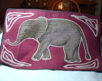 1990s Four Tapestry Like Made in INDIA Elephant Placemats.