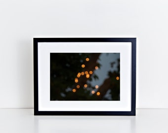 Dots in the Night // christmas lights, bokeh, gold, abstract photography, spain, travel, home decor