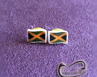 Fun Emoji Jamaican Flag Earrings