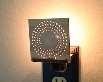 Modern Unique LED Night Light Plug In Interchangeable. Decorative NightLight.