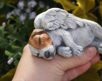 Jack Russell Terrier - Dog Angel Concrete Memorial