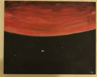 How Small Are We in the Universe Painting