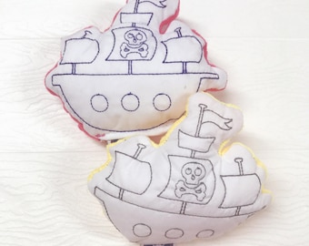 Plush stuffie - pirate ship