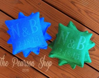 Personalized Cornhole Beanbags Set-of-8