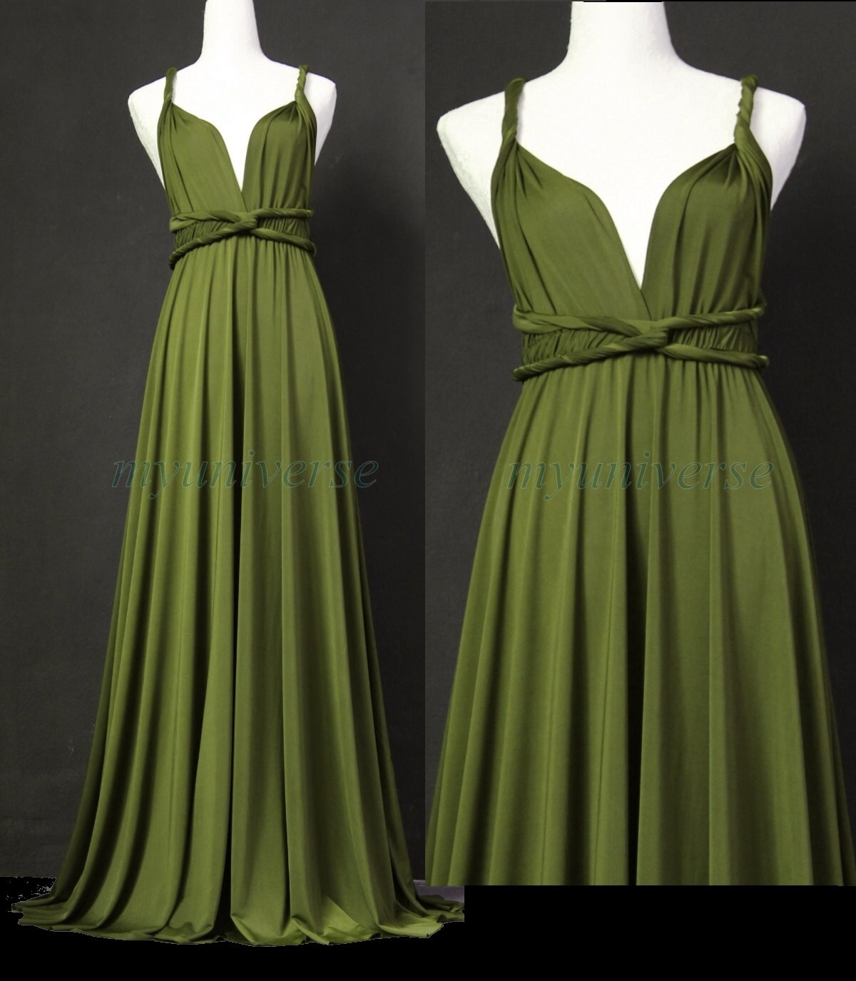Sage bridesmaid dress olive green infinity dress wrap zoom ombrellifo Gallery