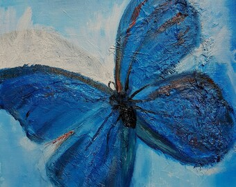 the butterfly, painting has oil