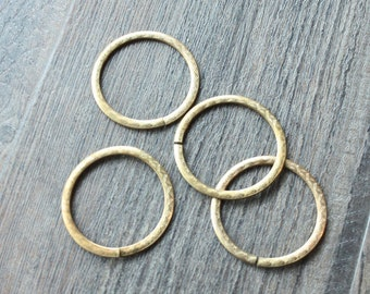 Vintage 1950s Art Nouveau Brass Circle Stampings // 50s 60s Findings // Round // NOS // Craft and Jewelry Supplies