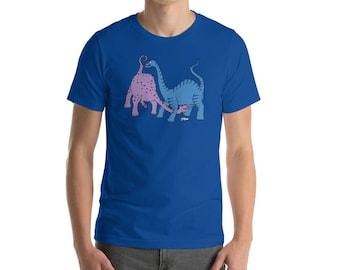 Queer Dinosaurs #1 BLUE | Short-Sleeve Unisex T-Shirt