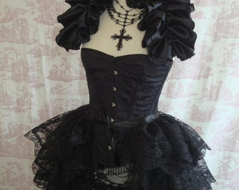 Lace Bustle Skirt Gothic STEAMPUNK BUSTLE Burlesque
