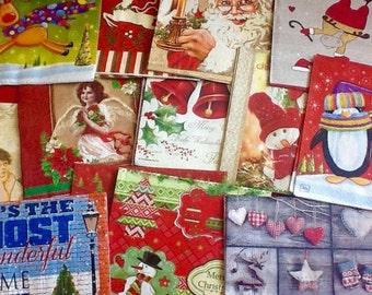OFFER! Christmas Napkin Grab bag! Decoupage Napkins, Paper Napkins for Decoupage, Decoupage Napkins, Seasonal Decoupage, Christmas Decoupage