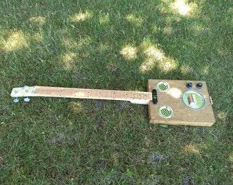 3 String, Paint Can Lid Resonator, Cigar Box Guitar