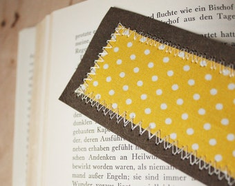 Bookmark yellow dotted