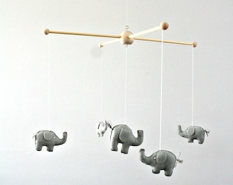 Gray Elephant Safari Wildlife Zoo Animal Baby Nursery Mobile Deccor
