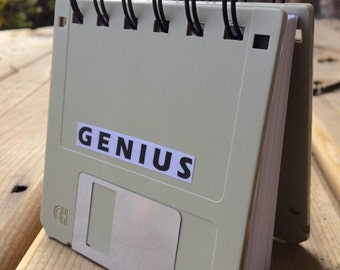 Original Genius Recycled Blank Floppy Disk Mini Notebook in Black