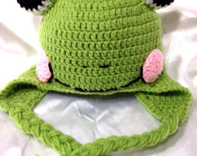 """Hat Peruvian """"Ma frog / my Toad"""" for baby from birth to two years"""
