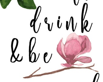 Eat, Drink and Be Married Printable Sign Download