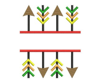 Arrow embroidery design. Arrow monogram embroidery design. Arrow pattern. Machine embroidery. Frame arrow embroidery. Arrow  embroidery.