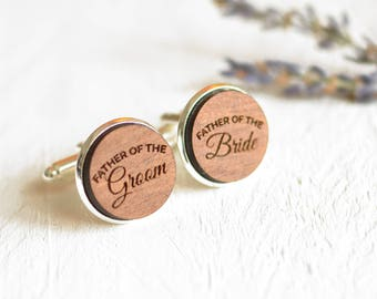 Father of the Bride Cufflinks, Wedding Cufflinks, Personalized Cufflinks, Father of the Bride Gift, Father of the Groom Cufflinks