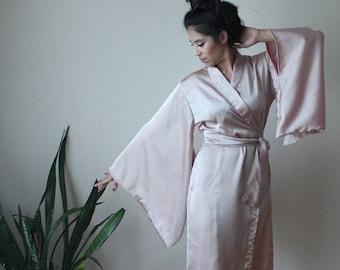 Gorgeous Silk Kimono Robe Handmade in Bali - Several Colors