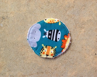 Washable cleansing disc individually sponge white cotton Zoo collection