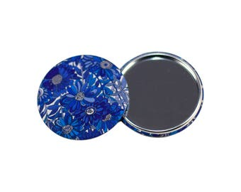 Pocket mirror / purse mirror / 75mm diameter / Liberty of London / gift for her