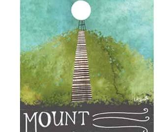 "Mount Baldhead Saugatuck, Michigan Art Print on Wood 8x5"" tag"