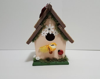 Hand Painted, Decorated Birdhouse