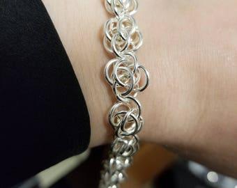 Flower Chain maille bracelet