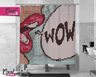 Shower Curtain by Cool Bedding, Extra Long Size  ON SALE