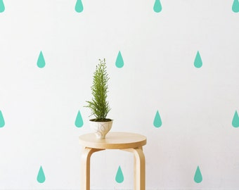 Raindrops   Removable Wall Decal & Sticker for Home, Office, Nursery