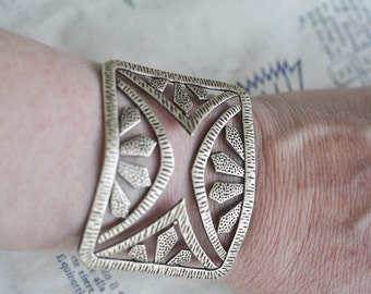 Art Deco Bracelet Base, Brass Ox, Brass Stampings Made in the USA