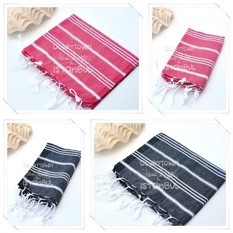 DISH TOWEL SET of 4 Peshkir Hand Towel Hair Towel Tea Towel